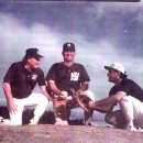 Ron, John, and ARon at a workout in NJ, 1995, happy days