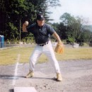 Warming up at my favorite position, 3rd base